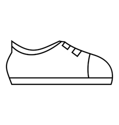 Sport sneakers icon outline style vector image