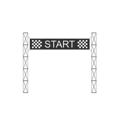 Starting line icon isolated start symbol flat vector