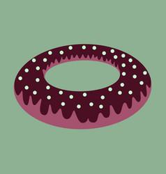 Sweet dessert in flat design donut vector