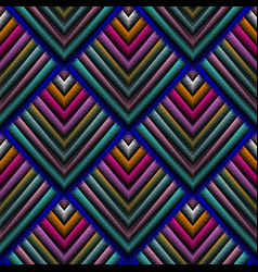 Tapestry 3d seamless pattern embroidery vector