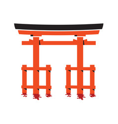 torii gate vector image