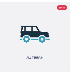 Two color all terrain icon from transport-aytan vector