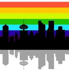 Vancouver Canada skyline vector