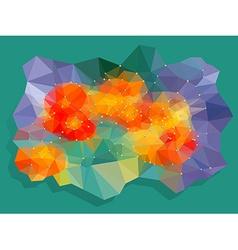 Vivid color polygonal background vector image