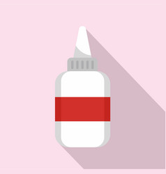 water glue bottle icon flat style vector image