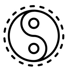 yin yang sign icon outline style vector image