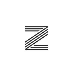 Z letter alphabet business sport vector