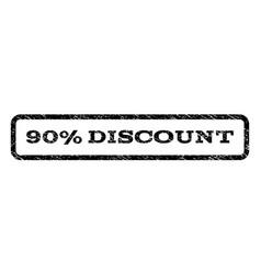 90 percent discount watermark stamp vector