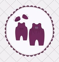 baby cloths vector image