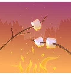 Barbecue At Night Background vector image vector image