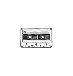 compact tape cassette vector image
