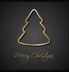 modern golden christmas trees on black background vector image vector image