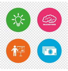 presentation billboard brainstorm cash money vector image vector image
