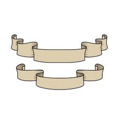 hand-drawn ribbons vector image vector image