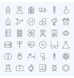Line Healthcare and Medical Icons Set vector image