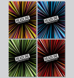 manga speed lines grunge ray set layout vector image vector image