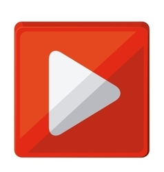 play button isolated icon design vector image