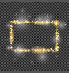 golden frame with lights effects good for vector image