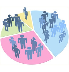 people statistics population data pie chart vector image vector image