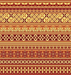 textile floral pattern vs vector image vector image