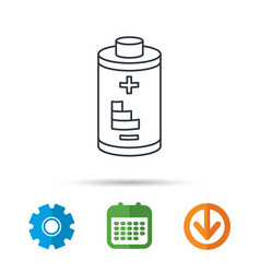 battery icon electrical power sign vector image