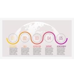 Business infographics Presentation slide chart vector image vector image
