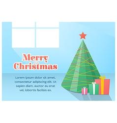 Christmas card flat design vector image