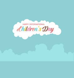 collection stock children day celebration vector image