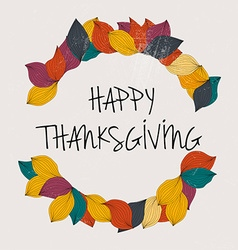 Happy Thanksgiving Day Thanksgiving Day card vector image