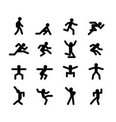 Human action poses Running walking jumping and vector image vector image