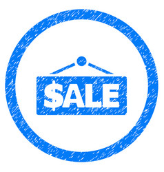 sale label rounded grainy icon vector image vector image