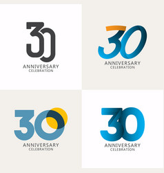 30 years anniversary celebration compilation logo vector