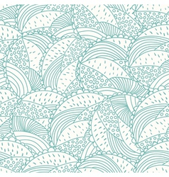 Abstract doodle floral seamless pattern vector image