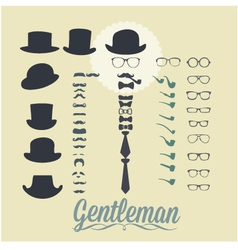Accessories for gentleman vector