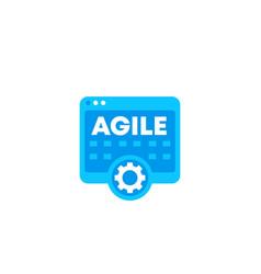 agile software development icon vector image