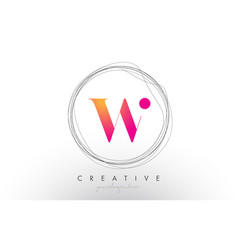 Artistic w letter logo design with creative vector