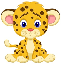 Baby leopard cartoon vector image