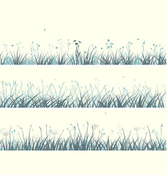 banner of abstract meadow grass vector image