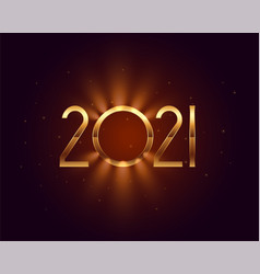 Beautiful 2021 new year wishes card with light vector