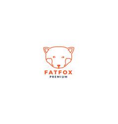 Big fox head line logo design vector