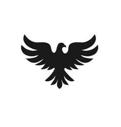 Bird with silhouette logo concept vector