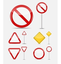 Blank traffic sign set vector