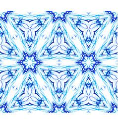 Blue flower fractal thin pattern vector