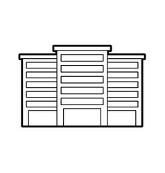 Buildings property business or apartment residence vector