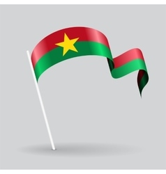 Burkina Faso wavy flag vector image