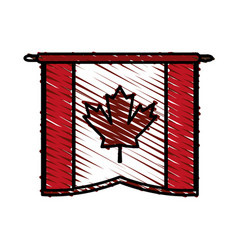 Canadian cartoon flat scribble vector