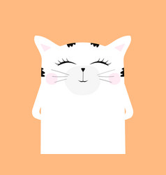 cartoon cat drawing cute funny beast vector image