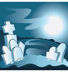 Cartoon cemetery vector
