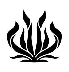 Century plant glyph icon agave americana desert vector