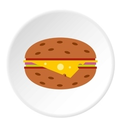 Cheeseburger icon flat style vector image